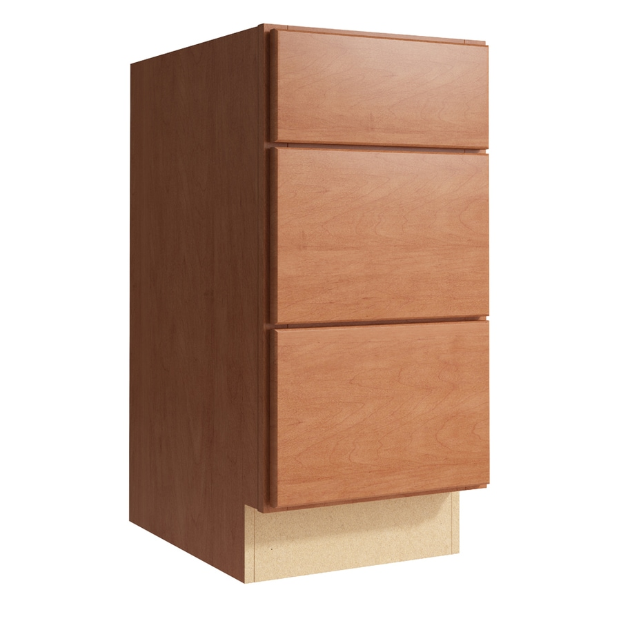 KraftMaid Momentum Hazelnut Paxton 3-Drawer Bank (Common: 15-in x 21-in x 31.5-in; Actual: 15-in x 21-in x 31.5-in)