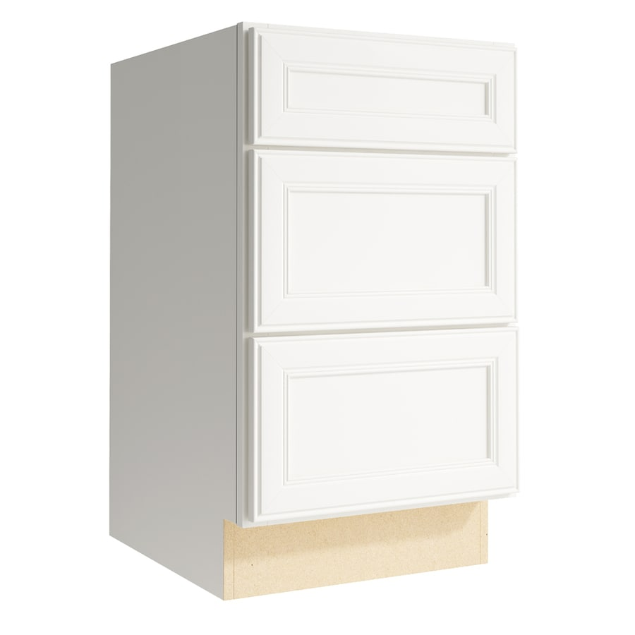 KraftMaid Momentum Cotton Bellamy 3-Drawer Bank (Common: 18-in x 21-in x 31.5-in; Actual: 18-in x 21-in x 31.5-in)