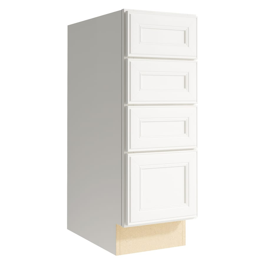 KraftMaid Momentum Cotton Bellamy 4-Drawer Bank (Common: 12-in x 21-in x 34.5-in; Actual: 12-in x 21-in x 34.5-in)