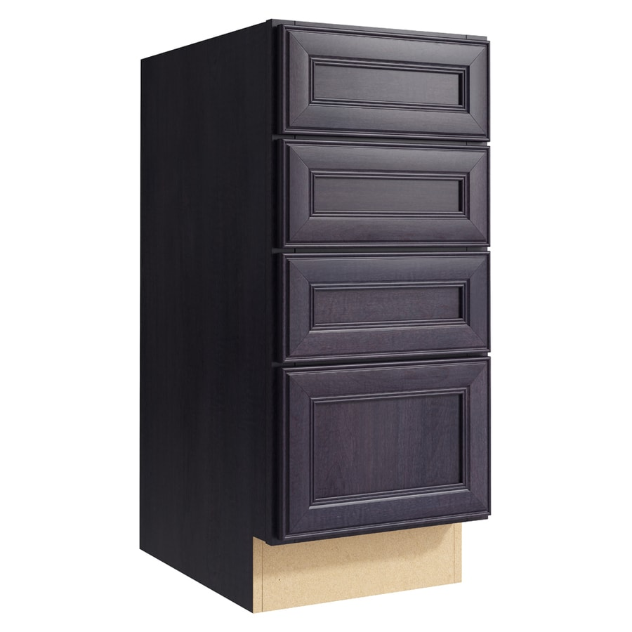 KraftMaid Momentum Dusk Bellamy 4-Drawer Bank (Common: 15-in x 21-in x 34.5-in; Actual: 15-in x 21-in x 34.5-in)