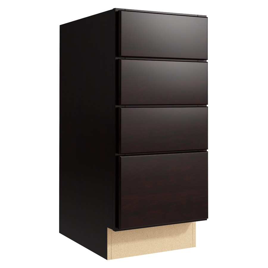 KraftMaid Momentum Kona Paxton 4-Drawer Bank (Common: 15-in x 21-in x 34.5-in; Actual: 15-in x 21-in x 34.5-in)