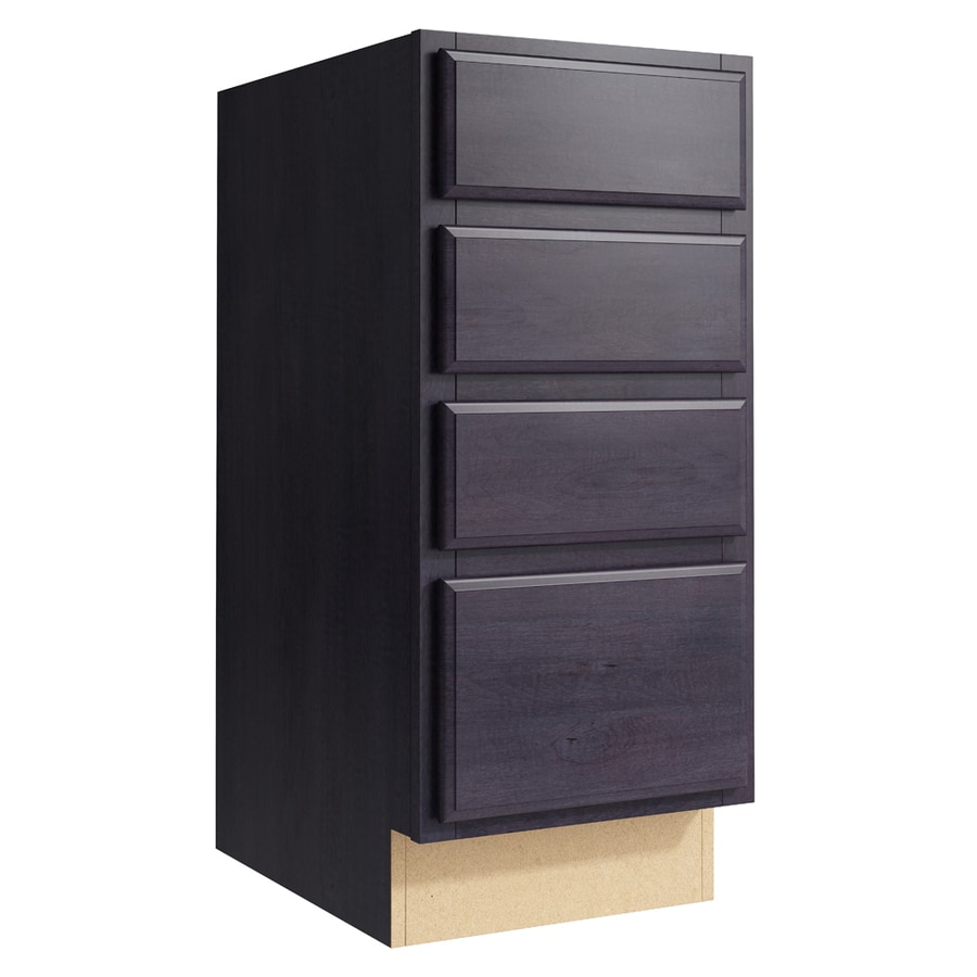 KraftMaid Momentum Dusk Settler 4-Drawer Bank (Common: 15-in x 21-in x 34.5-in; Actual: 15-in x 21-in x 34.5-in)