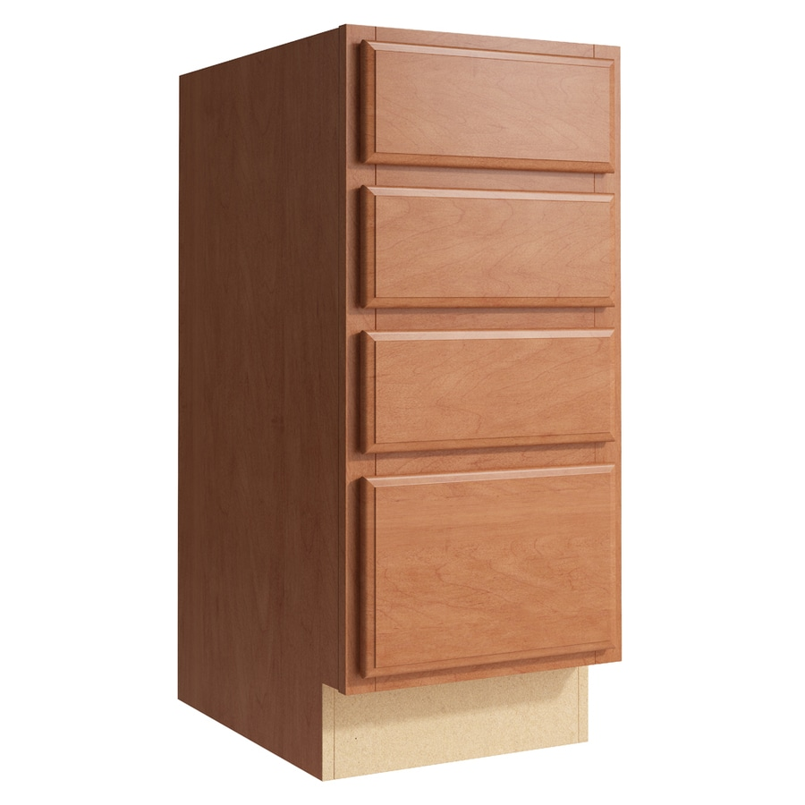 KraftMaid Momentum Hazelnut Settler 4-Drawer Bank (Common: 15-in x 21-in x 34.5-in; Actual: 15-in x 21-in x 34.5-in)