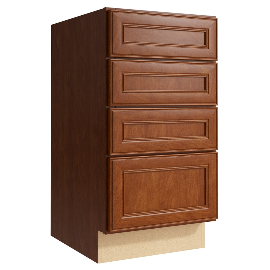 KraftMaid Momentum Sable Bellamy 4-Drawer Bank (Common: 18-in x 21-in x 34.5-in; Actual: 18-in x 21-in x 34.5-in)