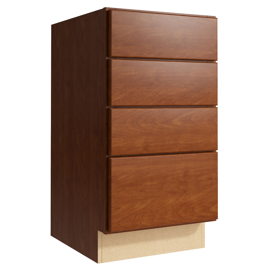 KraftMaid Momentum Sable Paxton 4-Drawer Bank (Common: 18-in x 21-in x 34.5-in; Actual: 18-in x 21-in x 34.5-in)