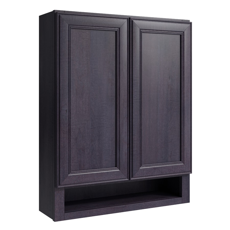 KraftMaid Momentum Dusk Bellamy Wall Hutch (Common: 24-in x 7-in x 30-in; Actual: 24-in x 7-in x 30-in)
