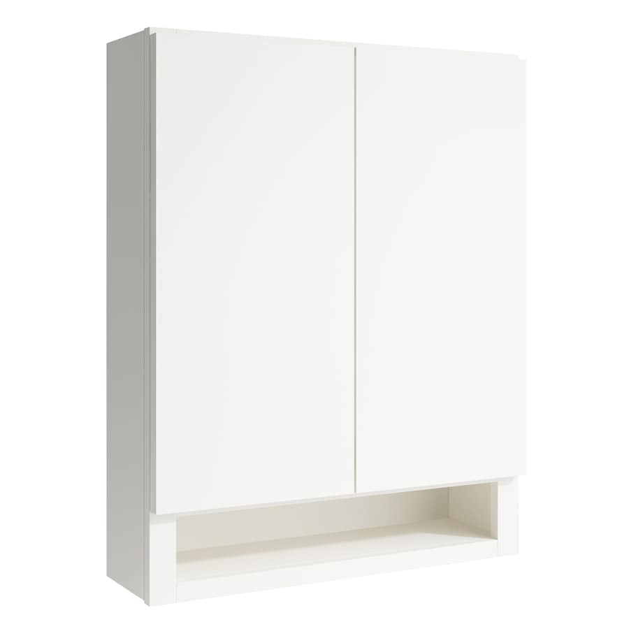KraftMaid Momentum Cotton Frontier Wall Hutch (Common: 24-in x 7-in x 30-in; Actual: 24-in x 7-in x 30-in)