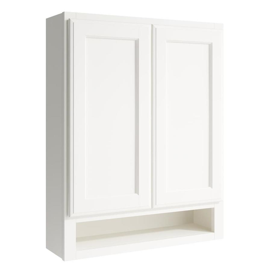 KraftMaid Momentum Cotton Kingston Wall Hutch (Common: 24-in x 7-in x 30-in; Actual: 24-in x 7-in x 30-in)