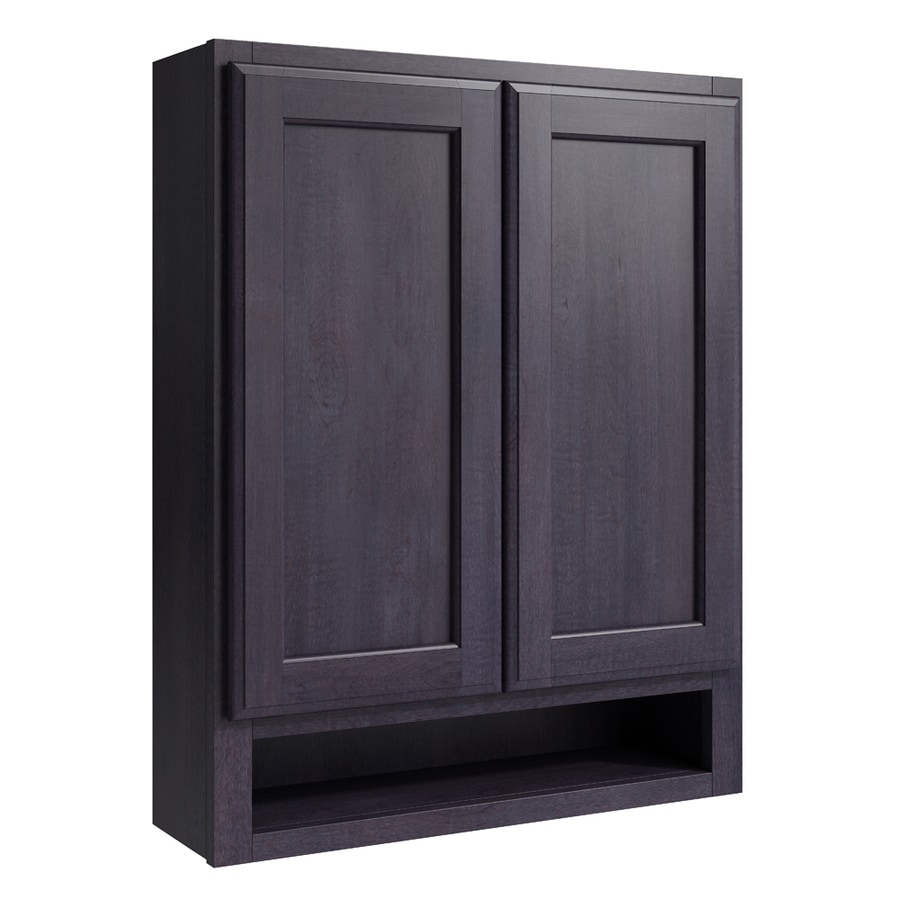 KraftMaid Momentum Dusk Kingston Wall Hutch (Common: 24-in x 7-in x 30-in; Actual: 24-in x 7-in x 30-in)