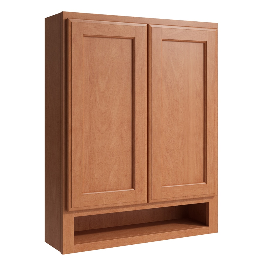 KraftMaid Momentum Hazelnut Kingston Wall Hutch (Common: 24-in x 7-in x 30-in; Actual: 24-in x 7-in x 30-in)