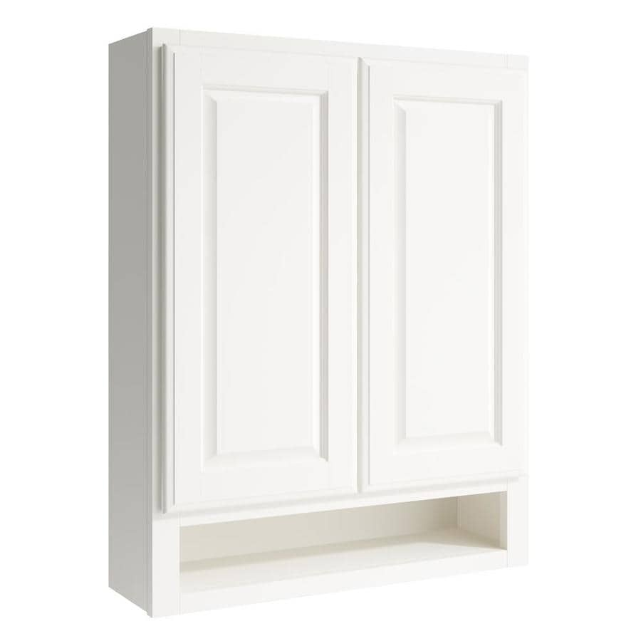 KraftMaid Momentum Cotton Settler Wall Hutch (Common: 24-in x 7-in x 30-in; Actual: 24-in x 7-in x 30-in)