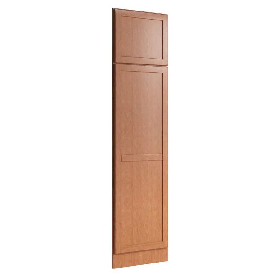 KraftMaid Momentum Hazelnut Standard Paxton Decorative End Panel (Common: 21-in x 0.937 x 84-in; Actual: 20.25-in x 0.937 x 84-in)