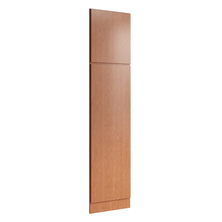 KraftMaid Momentum Hazelnut Standard Frontier Decorative End Panel (Common: 21-in x 0.937 x 90-in; Actual: 20.25-in x 0.937 x 90-in)