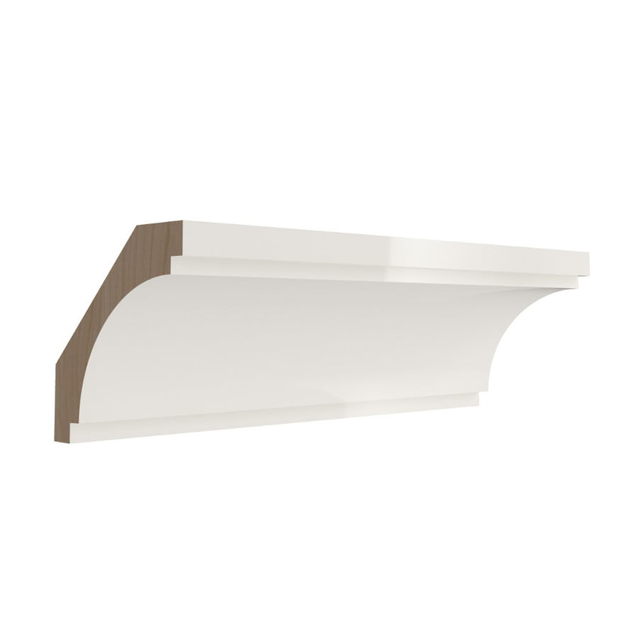 KraftMaid Momentum Cotton Contemporary Bellamy Crown Moulding (Common: 96-in x 2.625-in x 2.625-in; Actual: 96-in x 2.625-in x 2.625-in)