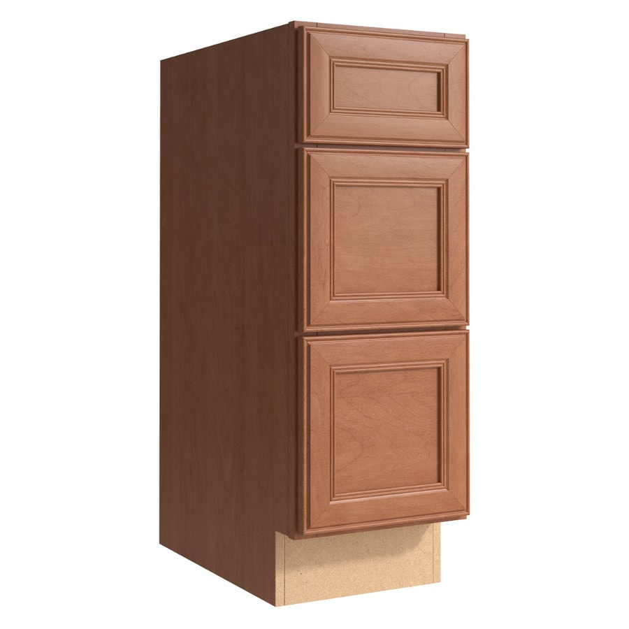 KraftMaid Momentum Hazelnut (Cabinetry) Bellamy 3-Drawer Bank (Common 12-in x 21-in x 34.5-in; Actual 12-in x 21-in x 34.5-in)