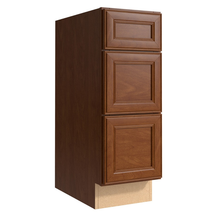 KraftMaid Momentum Sable (Cabinetry) Bellamy 3-Drawer Bank (Common 12-in x 21-in x 34.5-in; Actual 12-in x 21-in x 34.5-in)