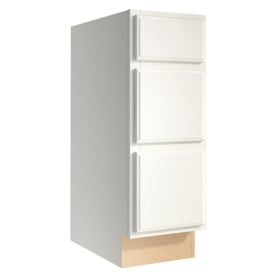 KraftMaid Momentum Cotton Kingston 3-Drawer Bank (Common 12-in x 21-in x 34.5-in; Actual 12-in x 21-in x 34.5-in)