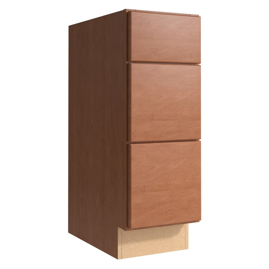 KraftMaid Momentum Hazelnut Paxton 3-Drawer Bank (Common 12-in x 21-in x 34.5-in; Actual 12-in x 21-in x 34.5-in)