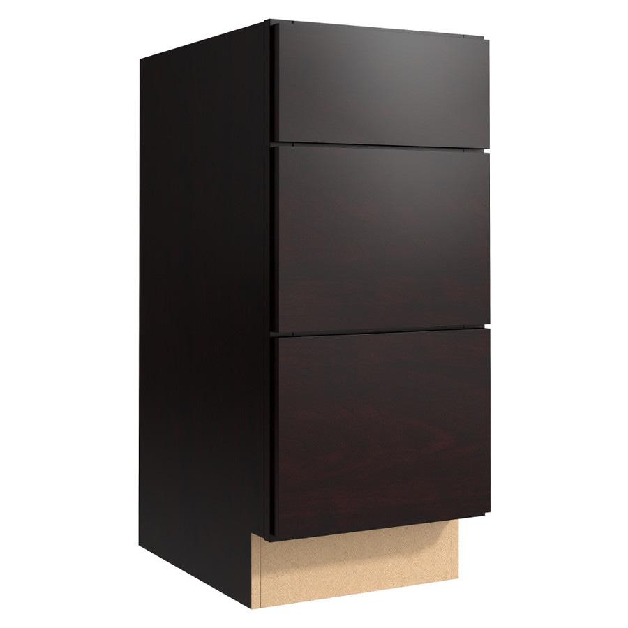 KraftMaid Momentum Kona (Cabinetry) Frontier 3-Drawer Bank (Common 15-in x 21-in x 34.5-in; Actual 15-in x 21-in x 34.5-in)