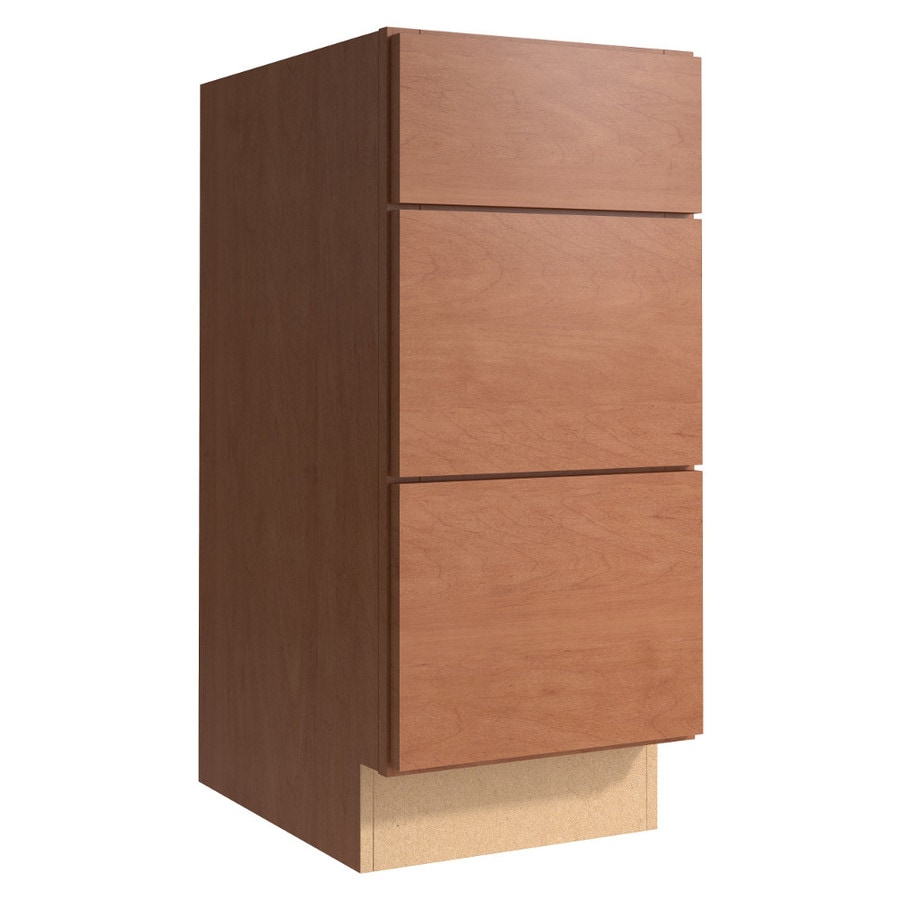 KraftMaid Momentum Hazelnut (Cabinetry) Frontier 3-Drawer Bank (Common 15-in x 21-in x 34.5-in; Actual 15-in x 21-in x 34.5-in)
