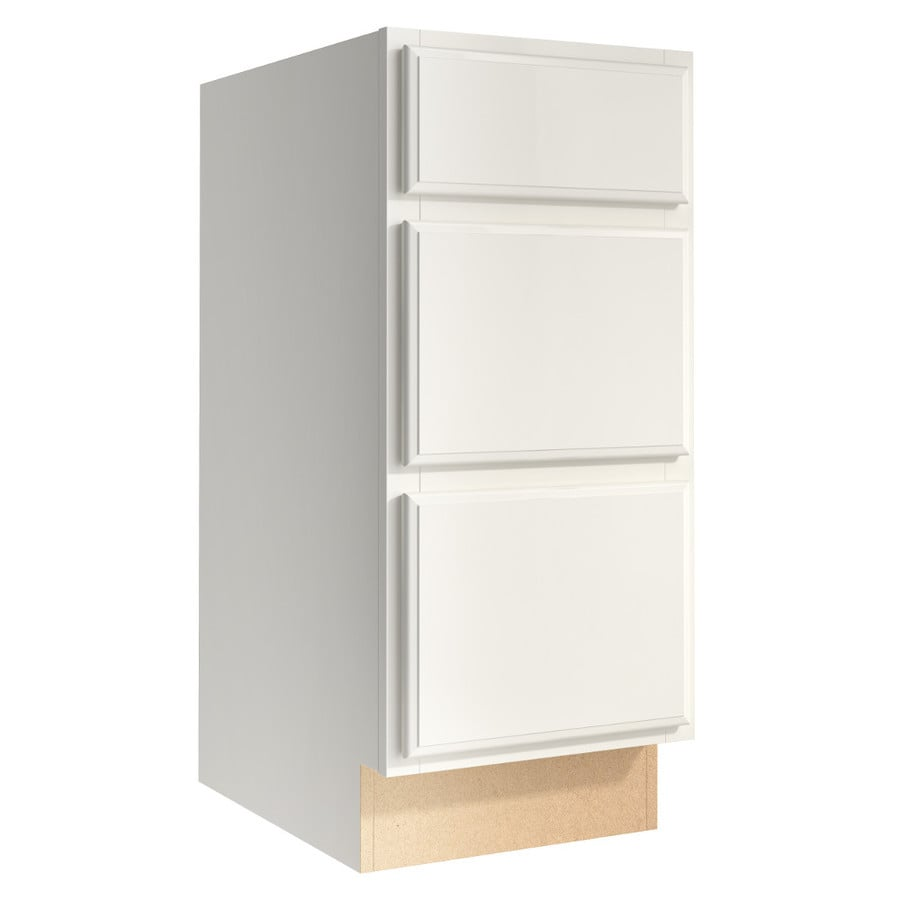 KraftMaid Momentum Cotton Kingston 3-Drawer Bank (Common 15-in x 21-in x 34.5-in; Actual 15-in x 21-in x 34.5-in)