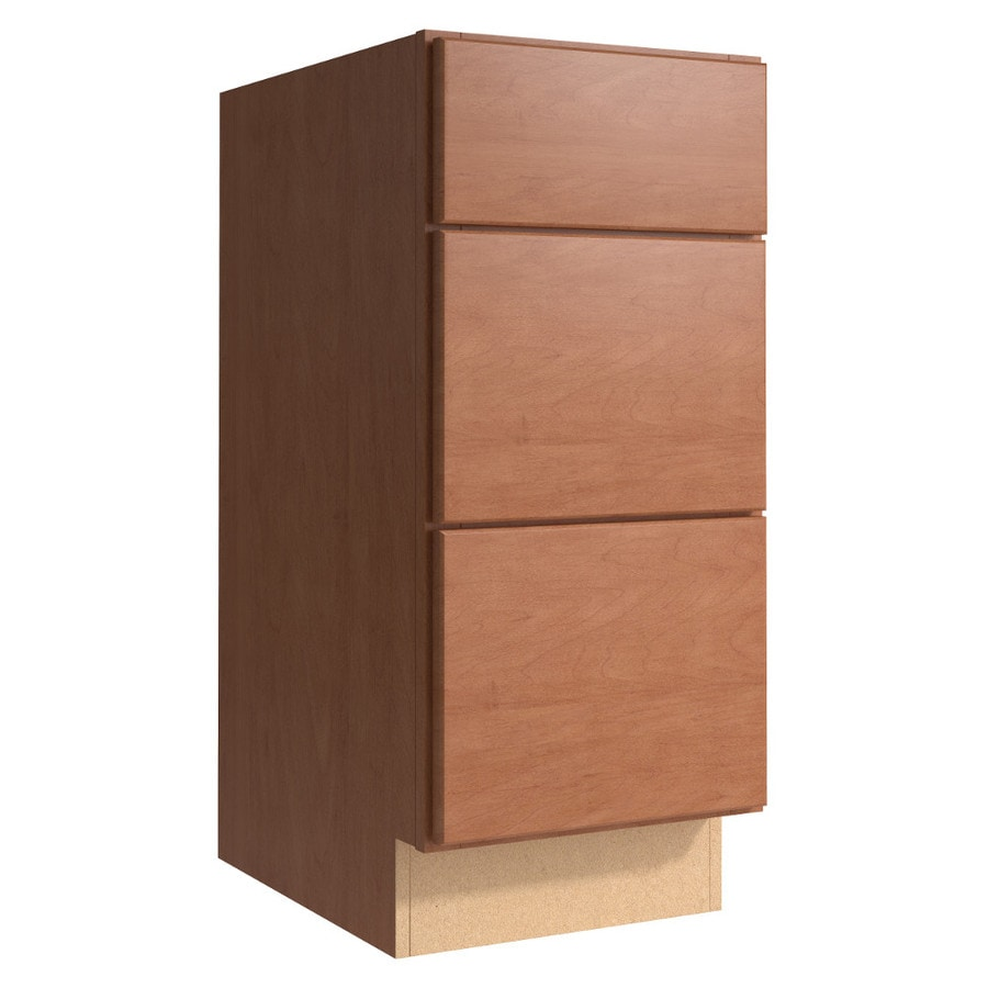 KraftMaid Momentum Hazelnut Paxton 3-Drawer Bank (Common 15-in x 21-in x 34.5-in; Actual 15-in x 21-in x 34.5-in)