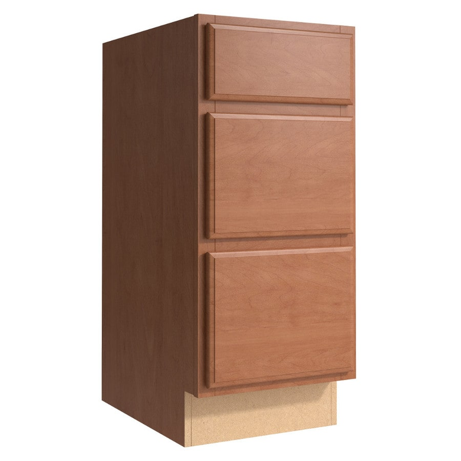 KraftMaid Momentum Hazelnut (Cabinetry) Settler 3-Drawer Bank (Common 15-in x 21-in x 34.5-in; Actual 15-in x 21-in x 34.5-in)