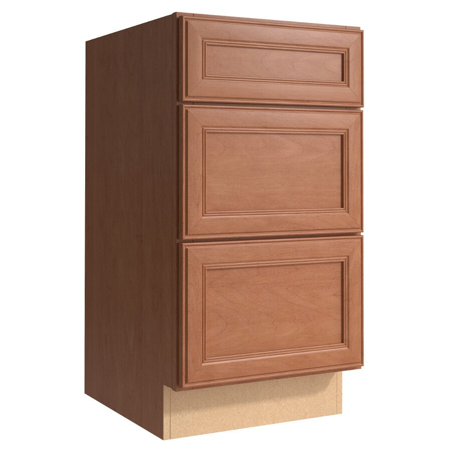 KraftMaid Momentum Hazelnut (Cabinetry) Bellamy 3-Drawer Bank (Common 18-in x 21-in x 34.5-in; Actual 18-in x 21-in x 34.5-in)