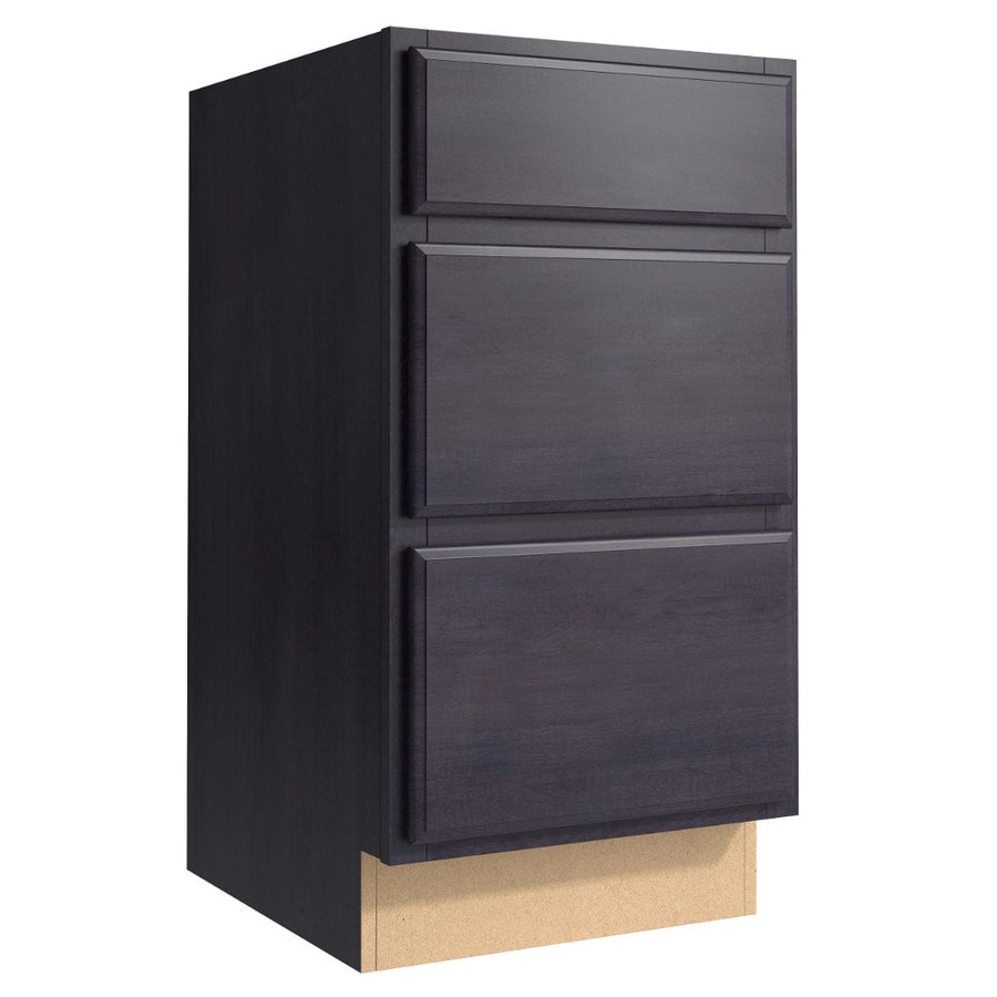 KraftMaid Momentum Dusk (Cabinetry) Settler 3-Drawer Bank (Common 18-in x 21-in x 34.5-in; Actual 18-in x 21-in x 34.5-in)