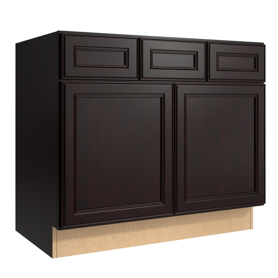 KraftMaid Momentum Kona (Cabinetry) Bellamy 2-Door 2-Drawer Base Cabinet (Common 36-in x 21-in x 31.5-in; Actual 36-in x 21-in x 31.5-in)