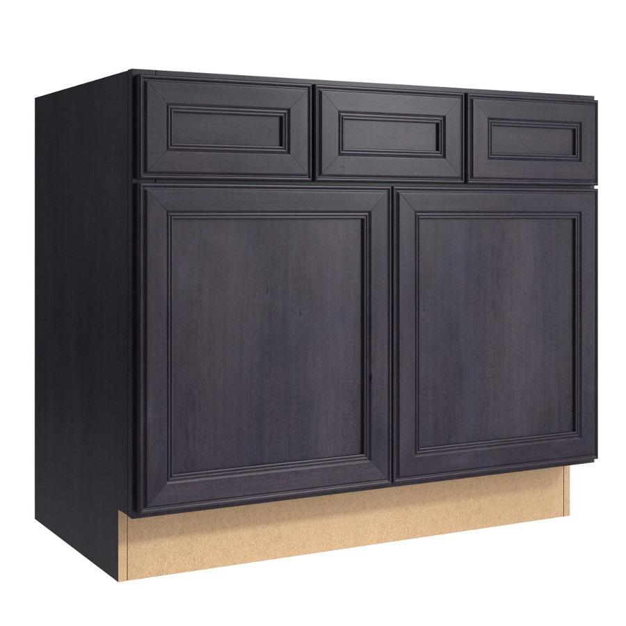 KraftMaid Momentum Dusk (Cabinetry) Bellamy 2-Door 2-Drawer Base Cabinet (Common 36-in x 21-in x 31.5-in; Actual 36-in x 21-in x 31.5-in)