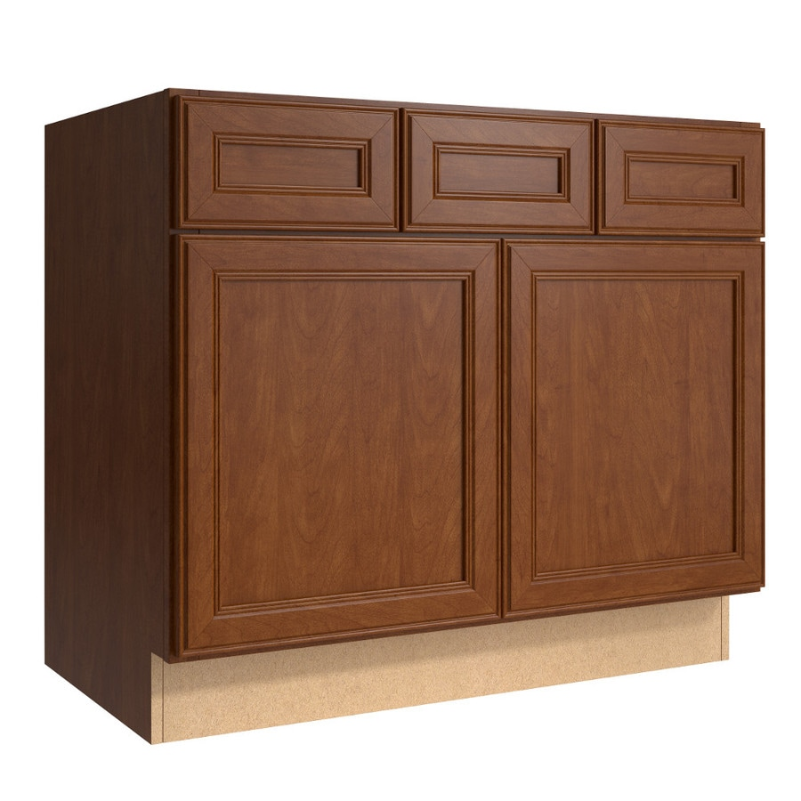 KraftMaid Momentum Sable (Cabinetry) Bellamy 2-Door 2-Drawer Base Cabinet (Common 36-in x 21-in x 31.5-in; Actual 36-in x 21-in x 31.5-in)