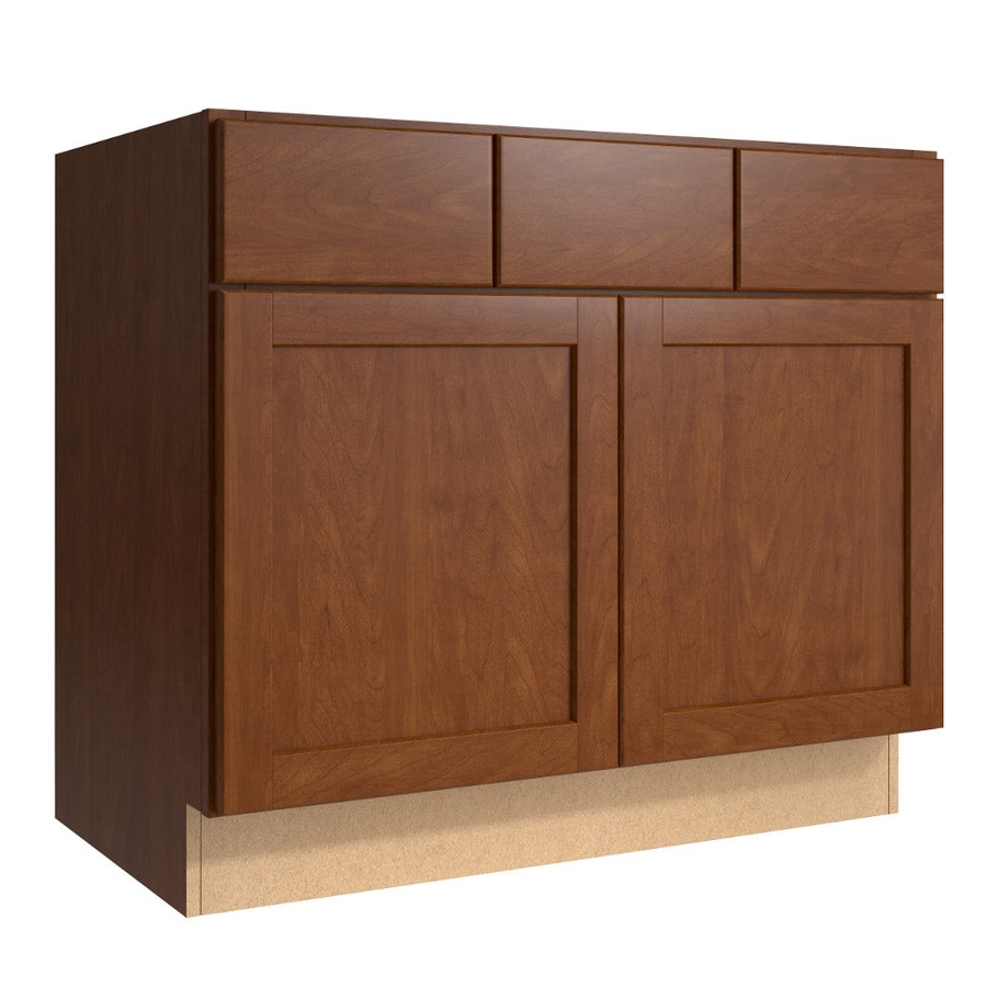 KraftMaid Momentum Sable Paxton 2-Door 2-Drawer Base Cabinet (Common 36-in x 21-in x 31.5-in; Actual 36-in x 21-in x 31.5-in)