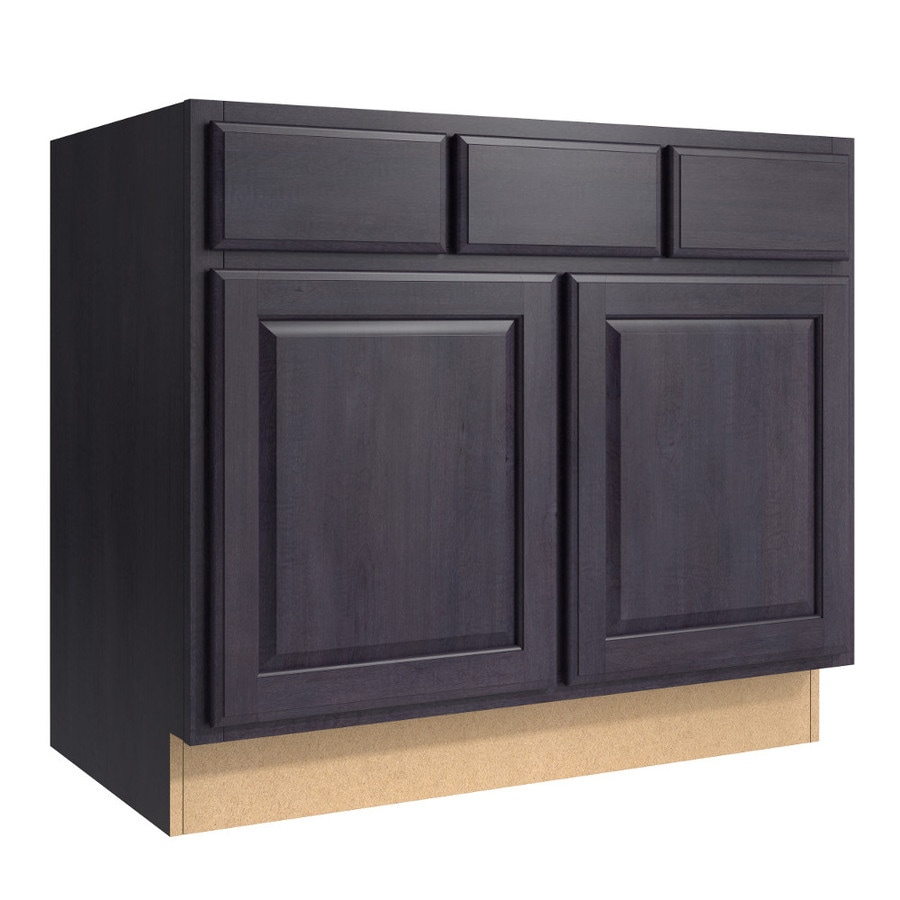 KraftMaid Momentum Dusk (Cabinetry) Settler 2-Door 2-Drawer Base Cabinet (Common 36-in x 21-in x 31.5-in; Actual 36-in x 21-in x 31.5-in)