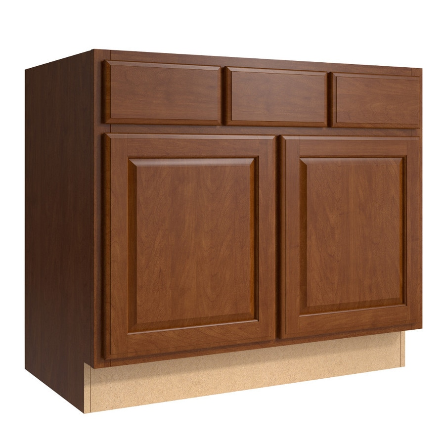 KraftMaid Momentum Sable (Cabinetry) Settler 2-Door 2-Drawer Base Cabinet (Common 36-in x 21-in x 31.5-in; Actual 36-in x 21-in x 31.5-in)