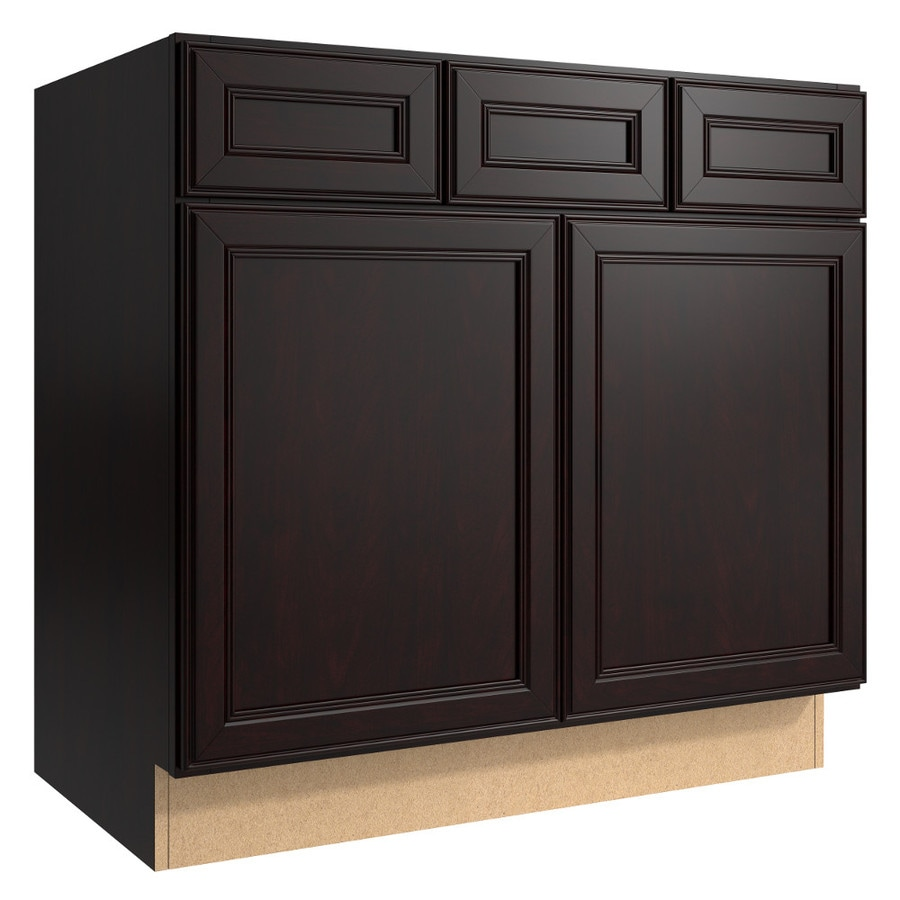 KraftMaid Momentum Kona (Cabinetry) Bellamy 2-Door 2-Drawer Base Cabinet (Common 36-in x 21-in x 34.5-in; Actual 36-in x 21-in x 34.5-in)