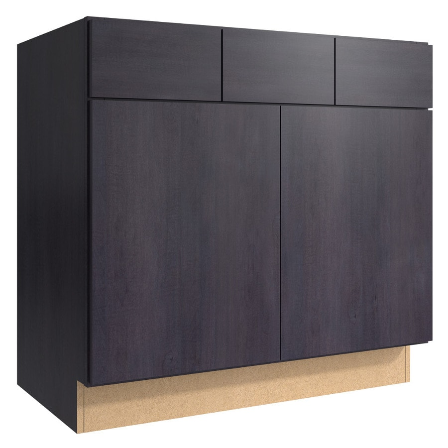 KraftMaid Momentum Dusk (Cabinetry) Frontier 2-Door 2-Drawer Base Cabinet (Common 36-in x 21-in x 34.5-in; Actual 36-in x 21-in x 34.5-in)