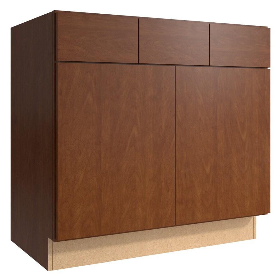 KraftMaid Momentum Sable (Cabinetry) Frontier 2-Door 2-Drawer Base Cabinet (Common 36-in x 21-in x 34.5-in; Actual 36-in x 21-in x 34.5-in)