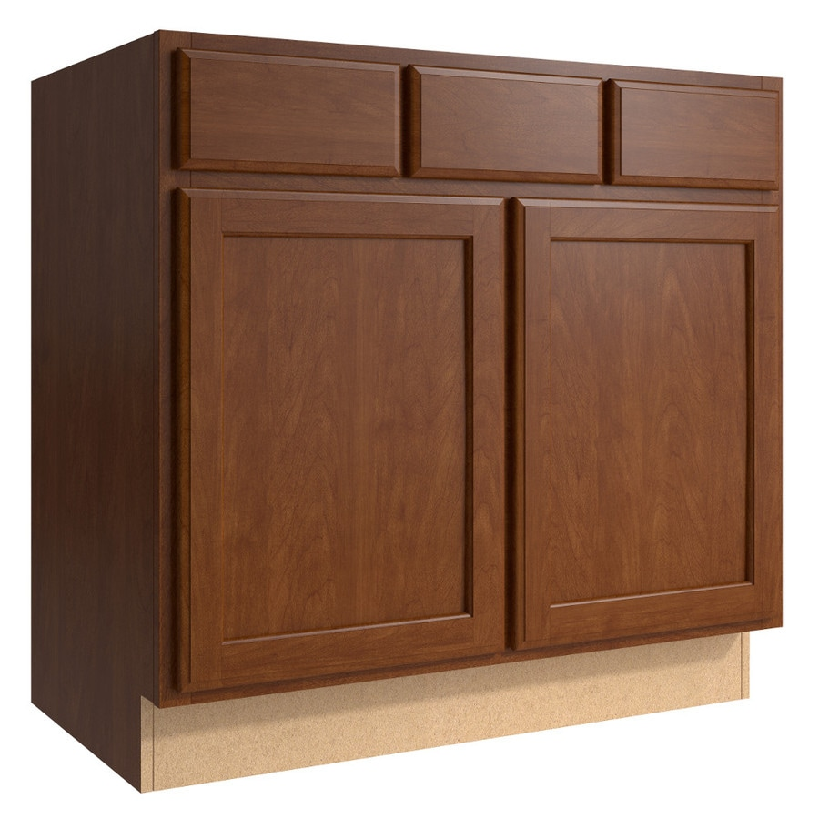 KraftMaid Momentum Sable Kingston 2-Door 2-Drawer Base Cabinet (Common 36-in x 21-in x 34.5-in; Actual 36-in x 21-in x 34.5-in)