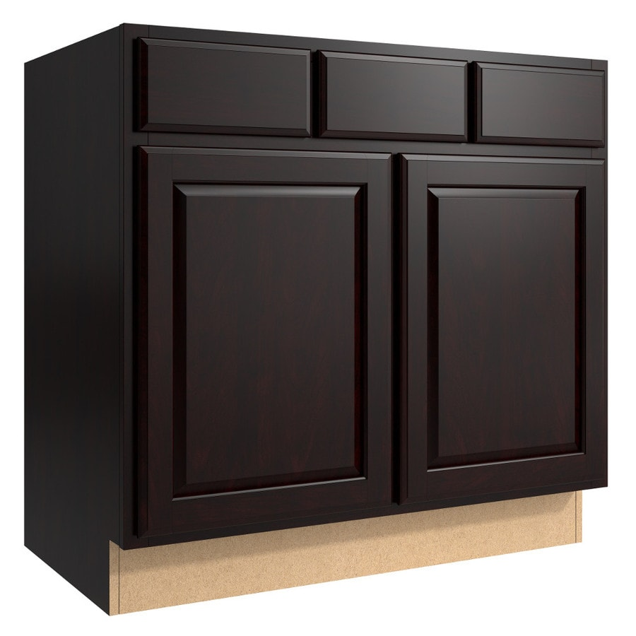 KraftMaid Momentum Kona (Cabinetry) Settler 2-Door 2-Drawer Base Cabinet (Common 36-in x 21-in x 34.5-in; Actual 36-in x 21-in x 34.5-in)