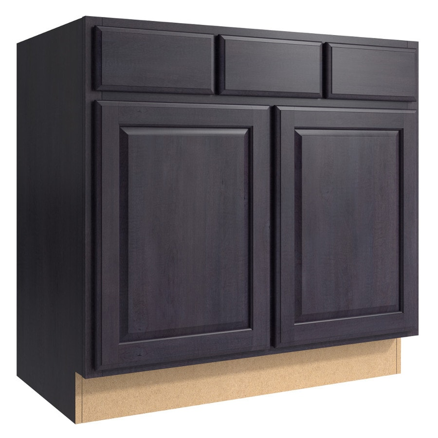KraftMaid Momentum Dusk (Cabinetry) Settler 2-Door 2-Drawer Base Cabinet (Common 36-in x 21-in x 34.5-in; Actual 36-in x 21-in x 34.5-in)