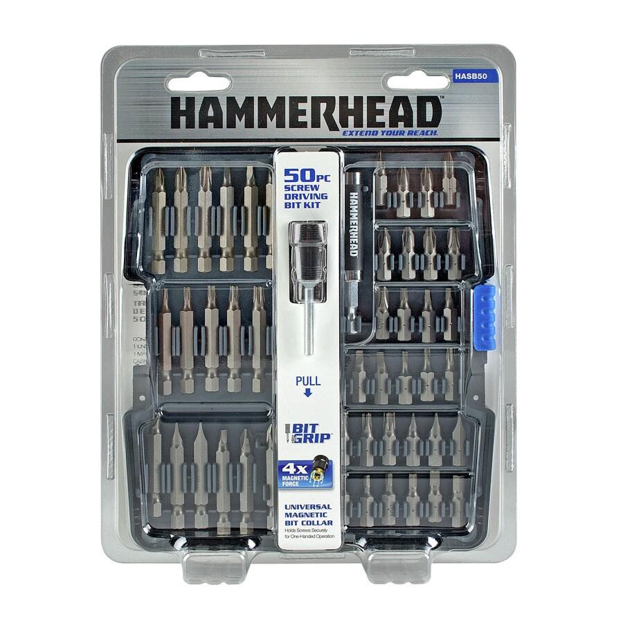HAMMERHEAD Bit Grip 50-Piece Screwdriver Bit Set