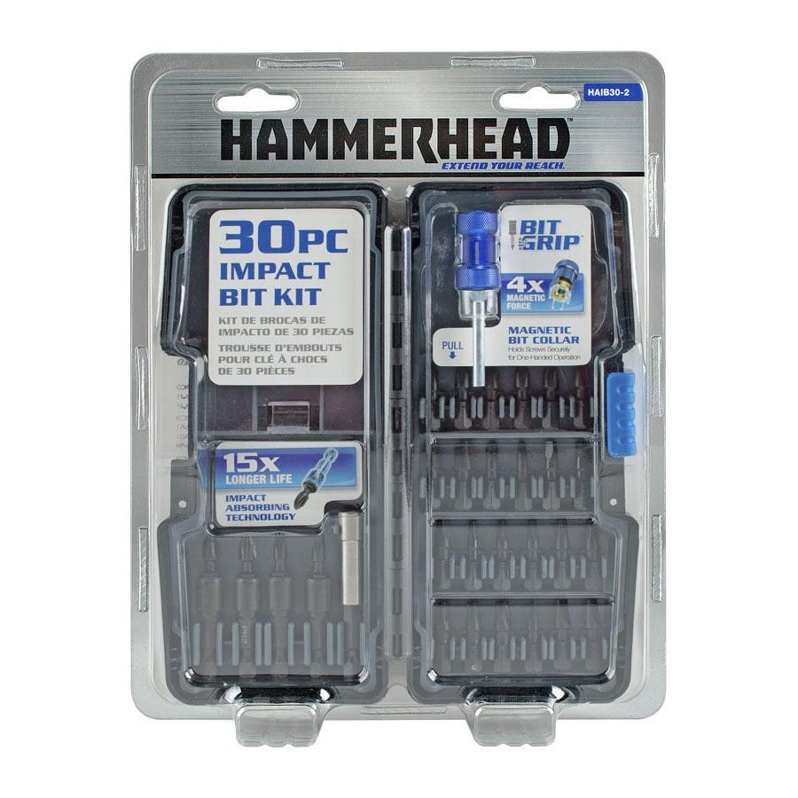 HAMMERHEAD Bit Grip 30-Piece Impact Driver Bit Set