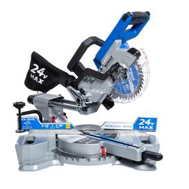 Kobalt 7-1/4-in-Amp 24-Volt Max Dual Bevel Bevel Sliding Compound Miter Saw