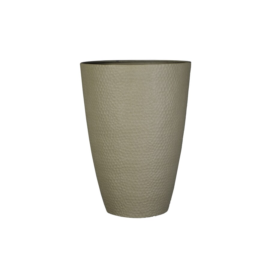 allen + roth 15.24-in x 22.01-in Sand Resin Planter