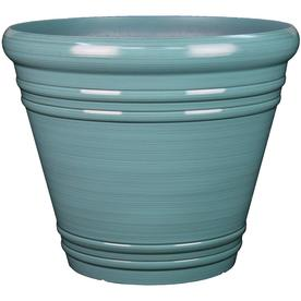 Garden Treasures 20 04 In W X 17 36 H Spa Blue Resin Planter