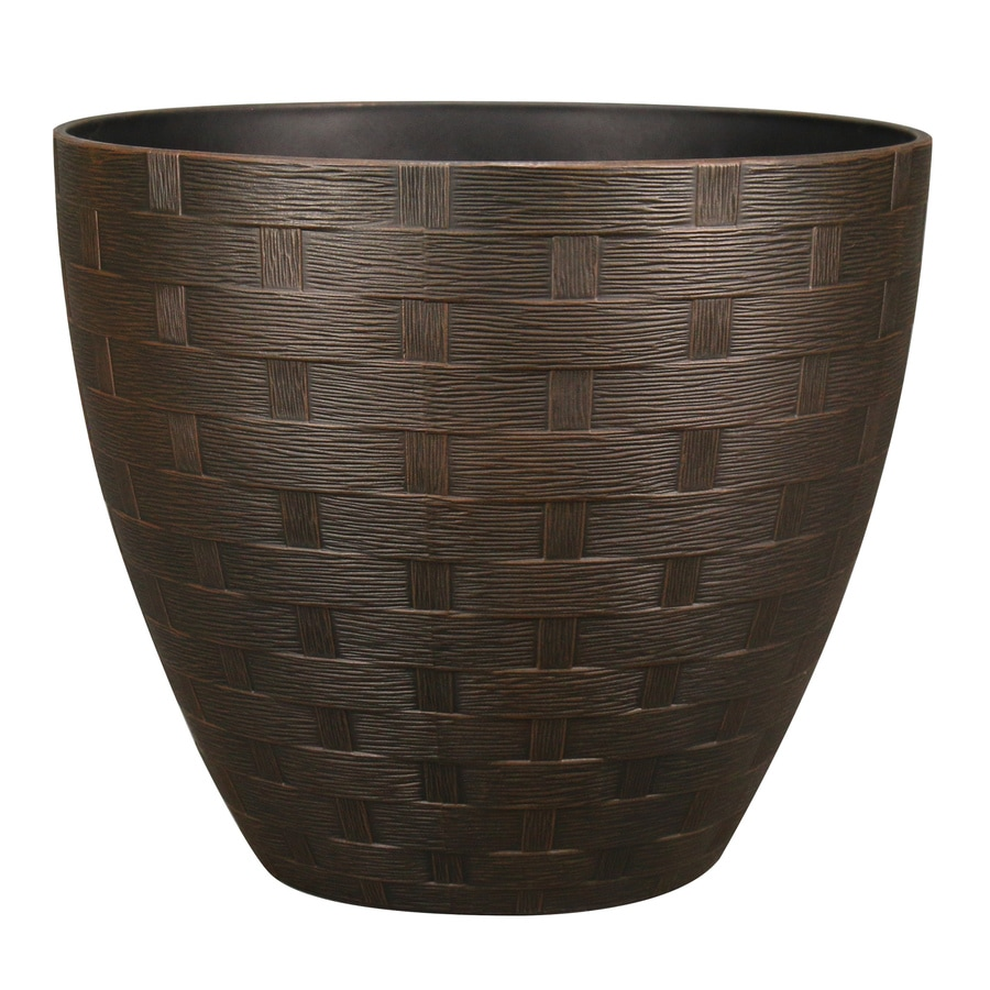 Allen Roth 15 28 In W X 13 66 In H Rust Resin Planter At