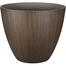 allen + roth 11.46-in W X 9.32-in H Brown Resin Planter
