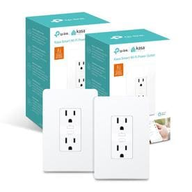 2-Pack TP-Link Kasa KP200 Smart Wi-Fi Power Outlet Plug (White)