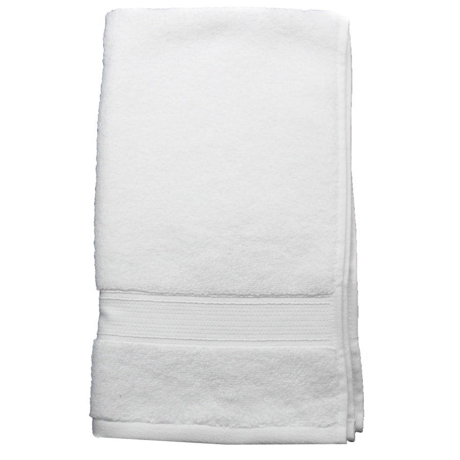 Shop style selections 28 in x 16 in white cotton hand for How to get towels white